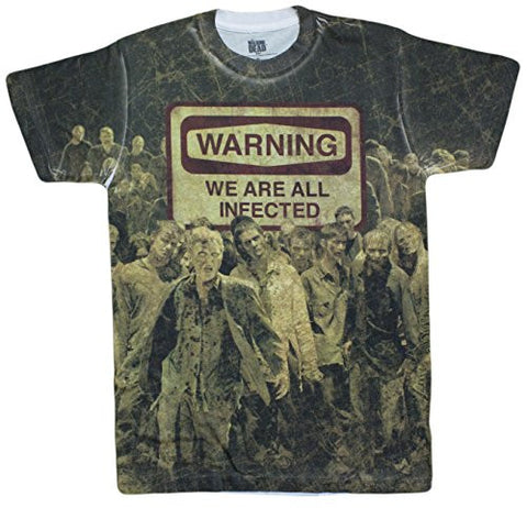Men's AMC The Walking Dead Warning Infected Sublimated T-Shirt