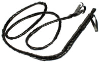 6 Foot Black Faux Leather Whip Halloween Costume Accessory