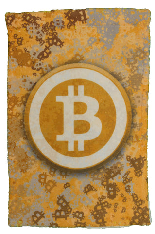 Bitcoin Logo Splatter Super Soft 8 x 12 Inch Hand Towel