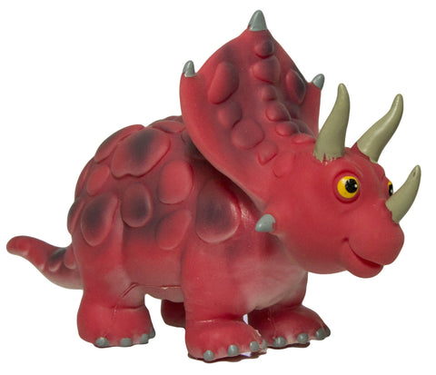 Large Triceratops 9 Inch Soft Rubber Cartoon Dinosaur Toys
