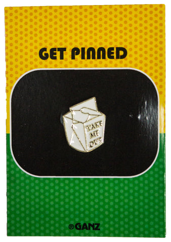 Get Pinned Lapel/ Hat Pin/ Tie Tack w/ colorful enamel -Take Me Out