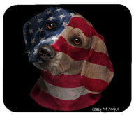 Dog Lovers Patriotic Beagle High Quality Mouse Pad