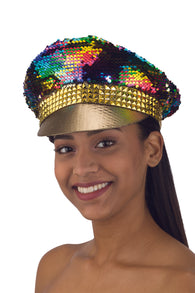 Costume Accessory - Color Changing Sequin Snapback Adjustable Hat Cap