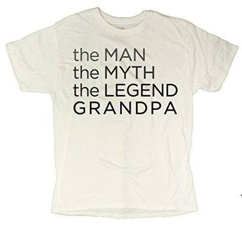 Men's The Man The Myth The Legend Grandpa Father's Day T-Shirt
