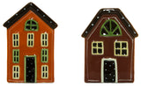 Country Living House Shaped Ceramic Salt & Pepper Shaker Set