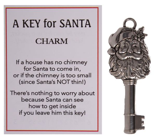 A Key For Santa Zinc Magical Zinc Charm With Story Card