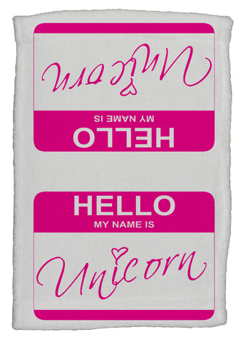 Hello My Name Is Mermaid Super Soft 8 x 12 Inch Hand Towel (Pink)