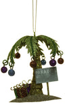 4 Inch Metal Christmas Paradise Palm Tree Ornament