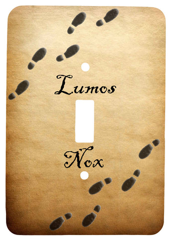 Single Toggle Metal Light Switch Cover with Lumos Nox Footprint Design