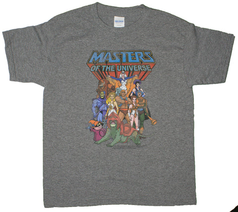 Big Boys Masters Of The Universe The Whole Gang Youth Size T-Shirt (Youth Large (14/16))