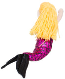 14 Inch Glitter Sparkle Swimming Mermaid Plush Toy (PinkBlack)