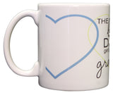 The Best Dads Get Promoted To Grandpa 11oz Coffee Mug with Hearts