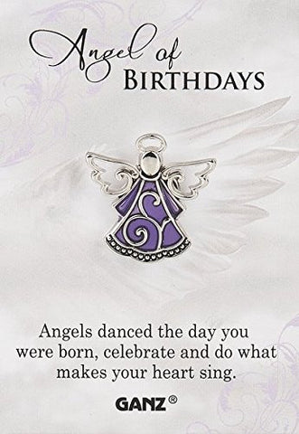"Ganz Pin - Angel of Birthdays ""Angels danced the day you were born, celebrate and do what makes your heart sing."""