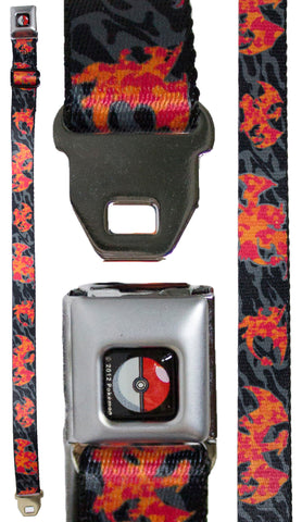Pokemon Youth Seatbelt Belt 20 - 36 Inches - Charizard