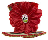 4 Inch Day of the Dead Mini Top Hat Hair Clip