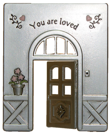 Doorway Of Life Inspirational Zinc Figurine -You Are Loved