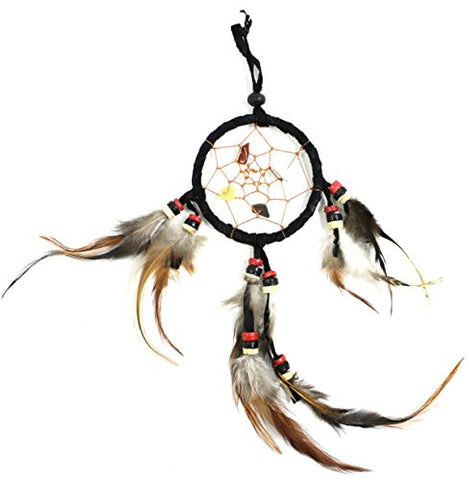 "8"" Long Feather/Leather Hanging Dream Catcher"