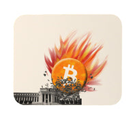 Bitcoin Smashes Federal Reserve Mouse Pad
