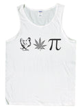 Men's Chicken Pot Pi Funny Stoner Tank Top