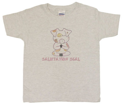 Unisex-Big Kids 4-20 Salutation Seal Yoga Piggy Youth T-Shirt