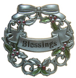 Blessings of the Season Christmas Wreath Charm With Story Card!