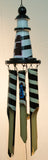 20 Inch Hand Carved Hand Painted Bamboo Lighthouse Windchime