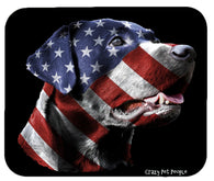 Dog Lovers Patriotic Labrador Retriever High Quality Mouse Pad