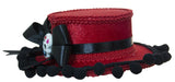 Day of the Dead Mini Red Gaucho Hat with Tassels and Bow