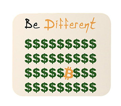 Bitcoin Be Different, Stand Out Mouse Pad