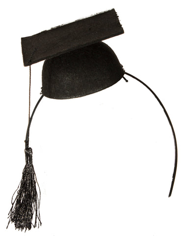 Costume Accessory- Felt Graduation Cap Headband Headpiece w/ tassels