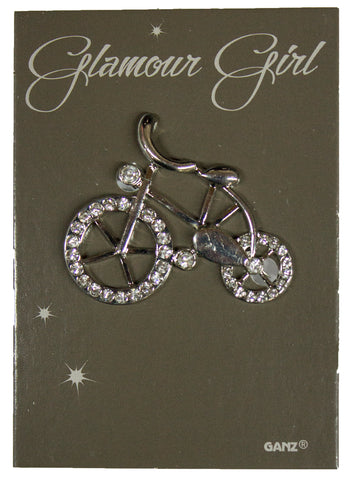 Glamour Girl Bling Pin - High Quality Fashion Pin w/ Rhinestones -Bicycle