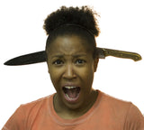 Zombie Costume Accessory - Bayonet Butcher Knife Through Head Headband