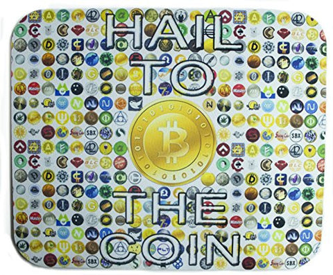 Hail To The Coin Crypto Currency Mouse Pad
