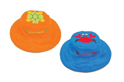 Luvali Convertibles LCKDS4LCT Turtle Crab Reversible Kids Hat Large