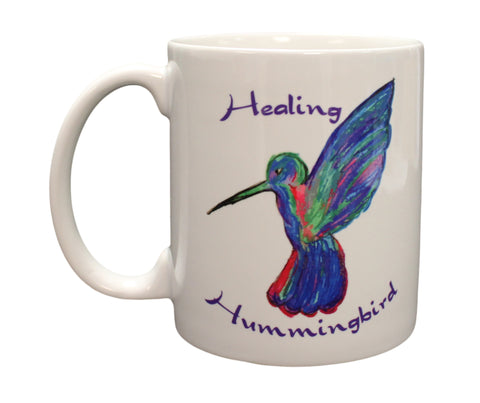 Beautiful Healing Hummingbird Mug