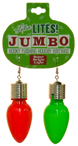 Christmas Accessory - Lotsa Lights Jumbo Flashing Light Bulb Earrings