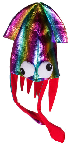 Costume Accessory - Shiny Rainbow Colored Felt Squid Hat