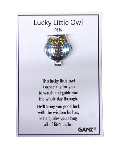Ganz Good Luck Pins- Lucky Little Owl