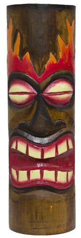 Hand Carved And Painted 12 Inch Wood Totem Pole (PartialFire)