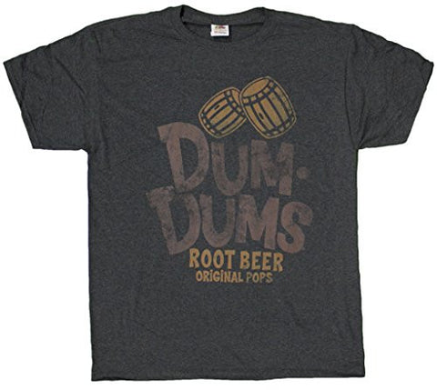 Men's Retro Style Dum Dums Original Pops Root Beer Flavor T-Shirt