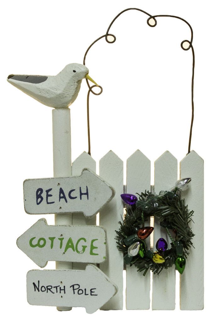 """5 Inch """"Beach, Cottage North Pole"""" Fence Post Christmas ..."""
