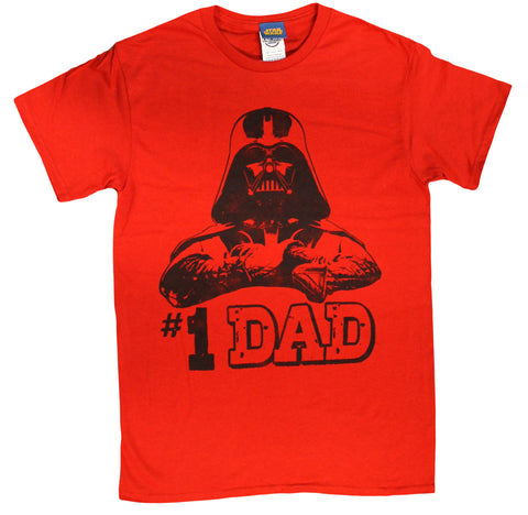 Star Wars #1 Dad Darth Vader Father's Day T-Shirt - Red