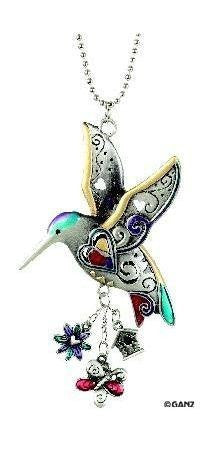 1 X Hummingbird Color Car Charm