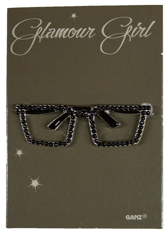 Glamour Girl Bling Pin - High Quality Fashion Pin w/ Rhinestones -Eyeglasses