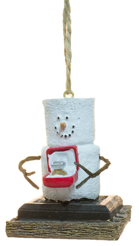 S'mores Man presenting an engagement ring Christmas/ Everyday Ornament