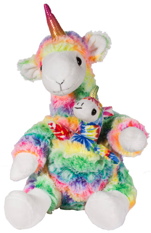 Adorable Mother and Baby Llamacorn Unicorn Llama Mix Super Soft Plush Toy Set