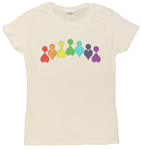 Ladies Love Equality Rainbow Heart People LGBT T-Shirt