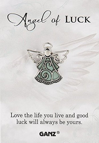 "Ganz Good Luck Pin - Lucky Angel ""Love The Life You Live And Good Luck Will Be Yours."""