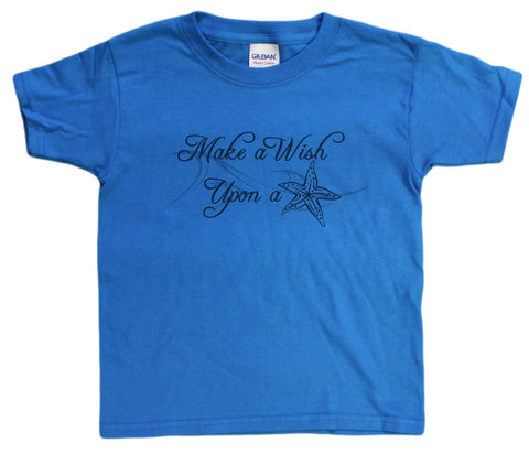 Unisex-Big Kids 4-20 Make A Wish Upon A Starfish Youth T-Shirt