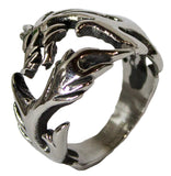 Men's Stainless Steel Dress Ring Wrap Around Dragon 093